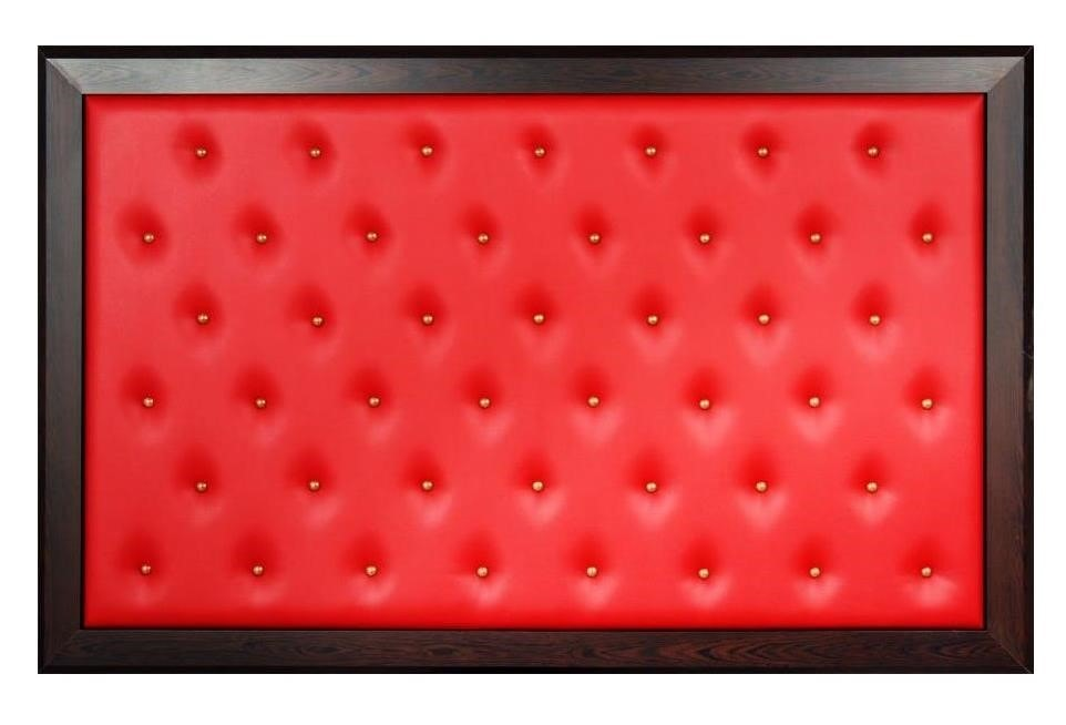 Manager Back Board – Quilted  Red Leather Wenge Frame