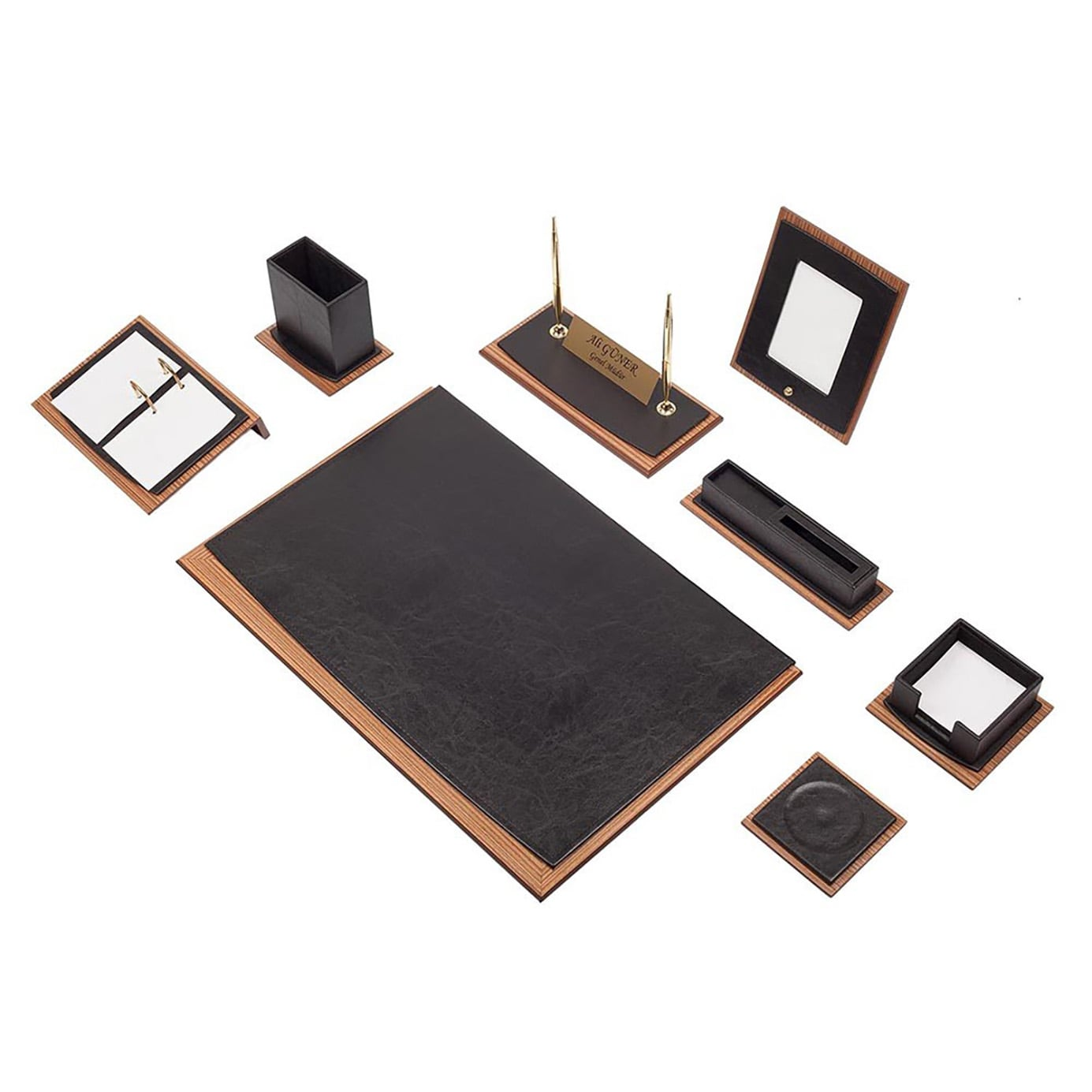 Star Lux Leather Desk Set 10 Pieces