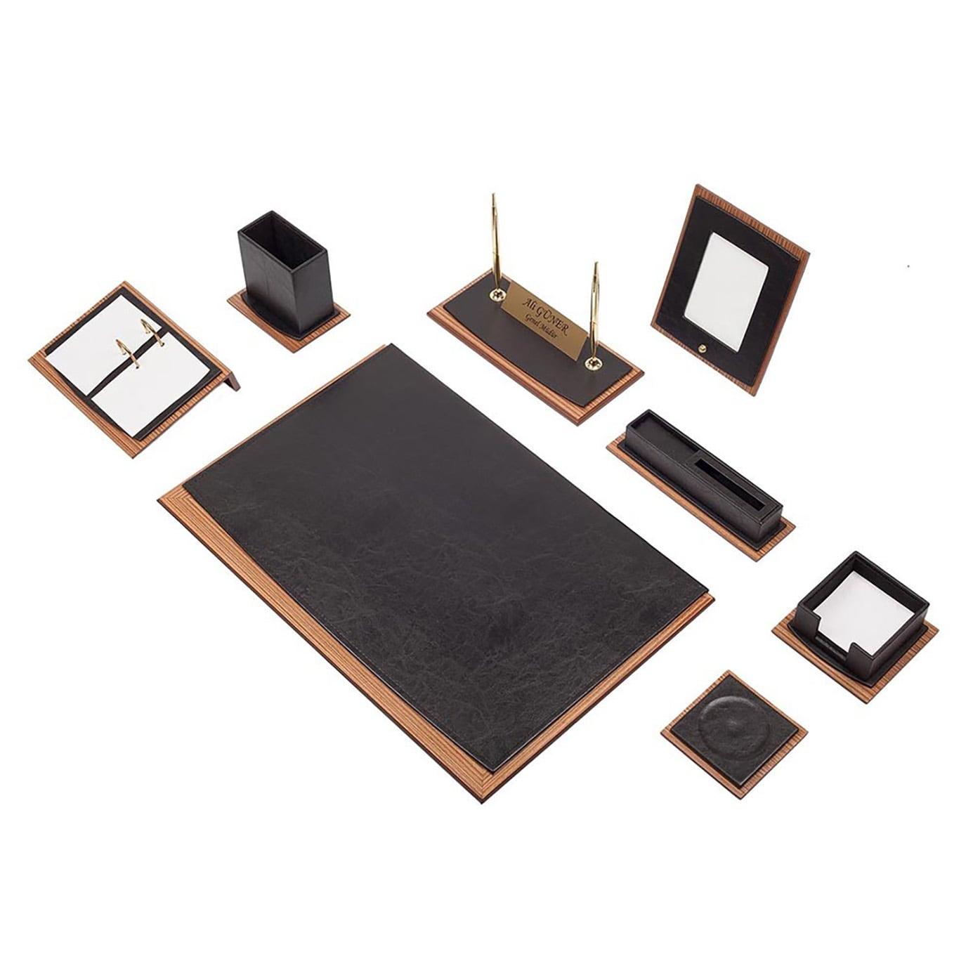 Star Lux Leather Desk Set 10 Pieces