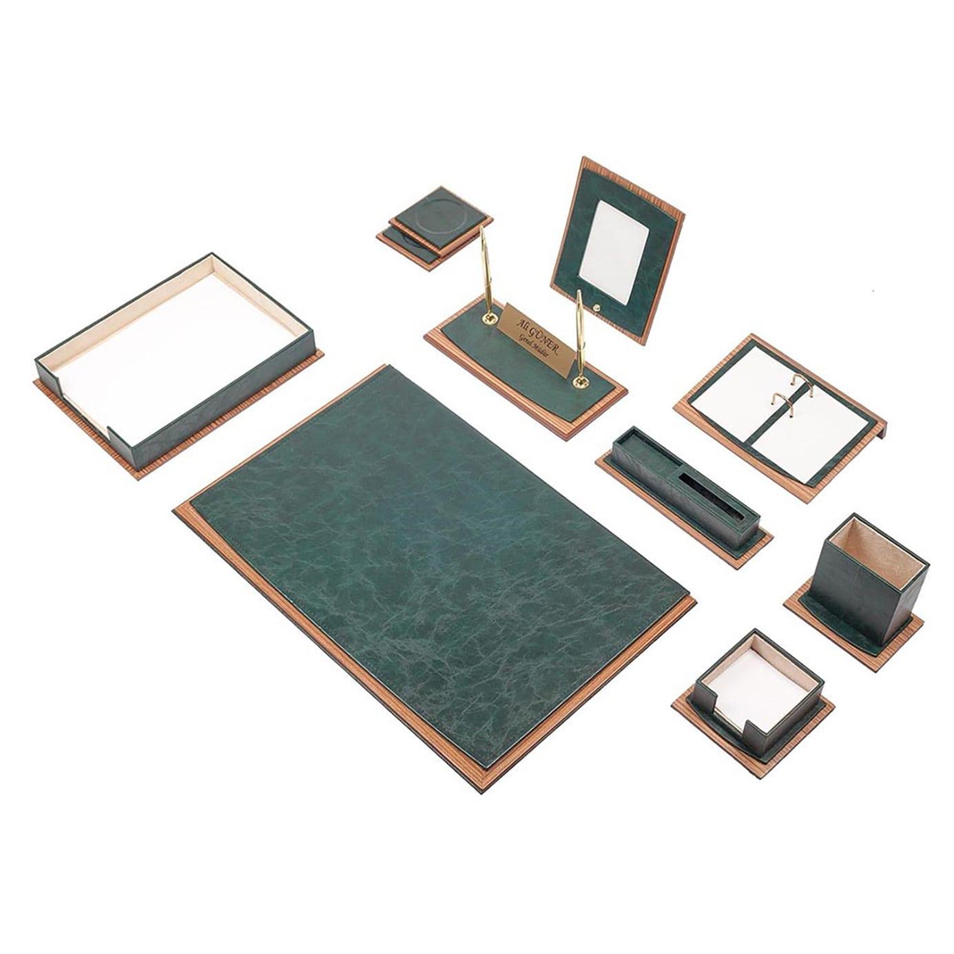 Star Lux Leather Desk Set 11 Pieces Single