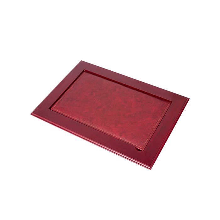 Leather Desk Pad With Cover – Claret