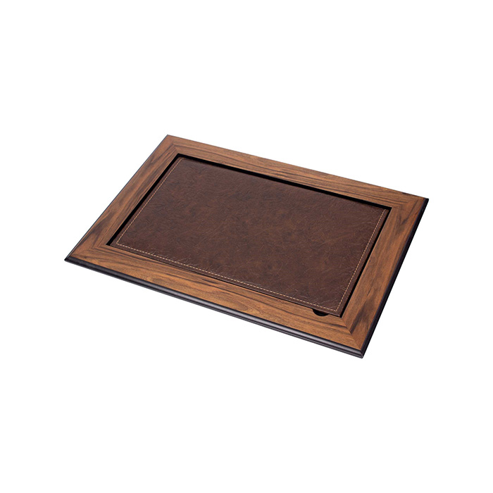 Leather Desk Pad With Cover –  Walnut