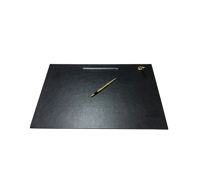 Leather Desk Pad With Golden Pen