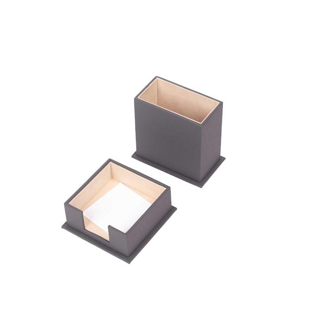 Double Desk Set / Pen Box And Note Paper Holder