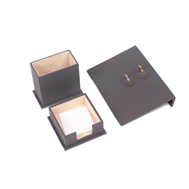 Triple Desk Set/Pen Box, Calendar Holder, Note Paper Holder